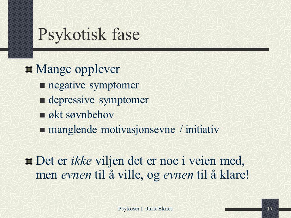 Psykotisk fase Mange opplever