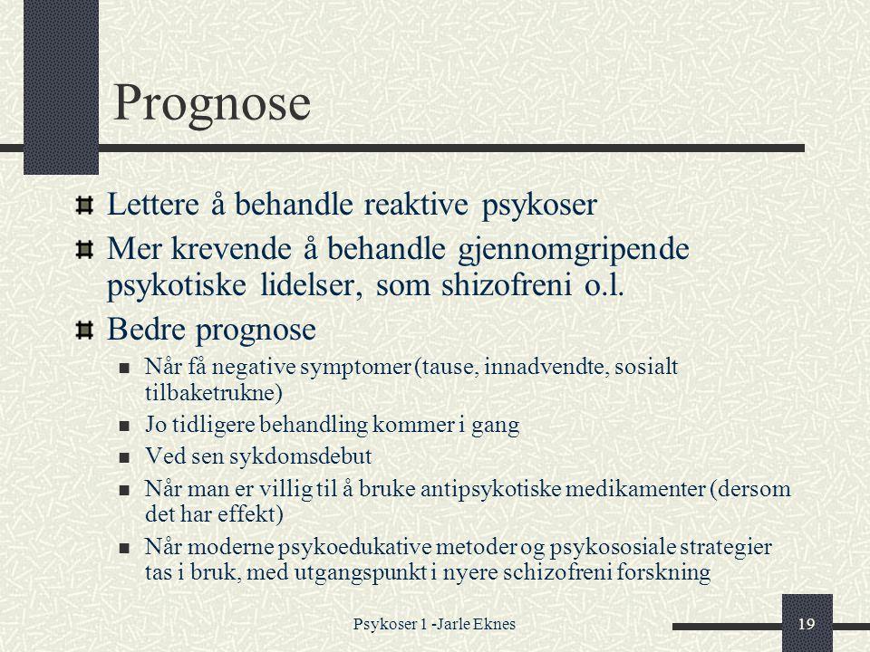 Prognose Lettere å behandle reaktive psykoser