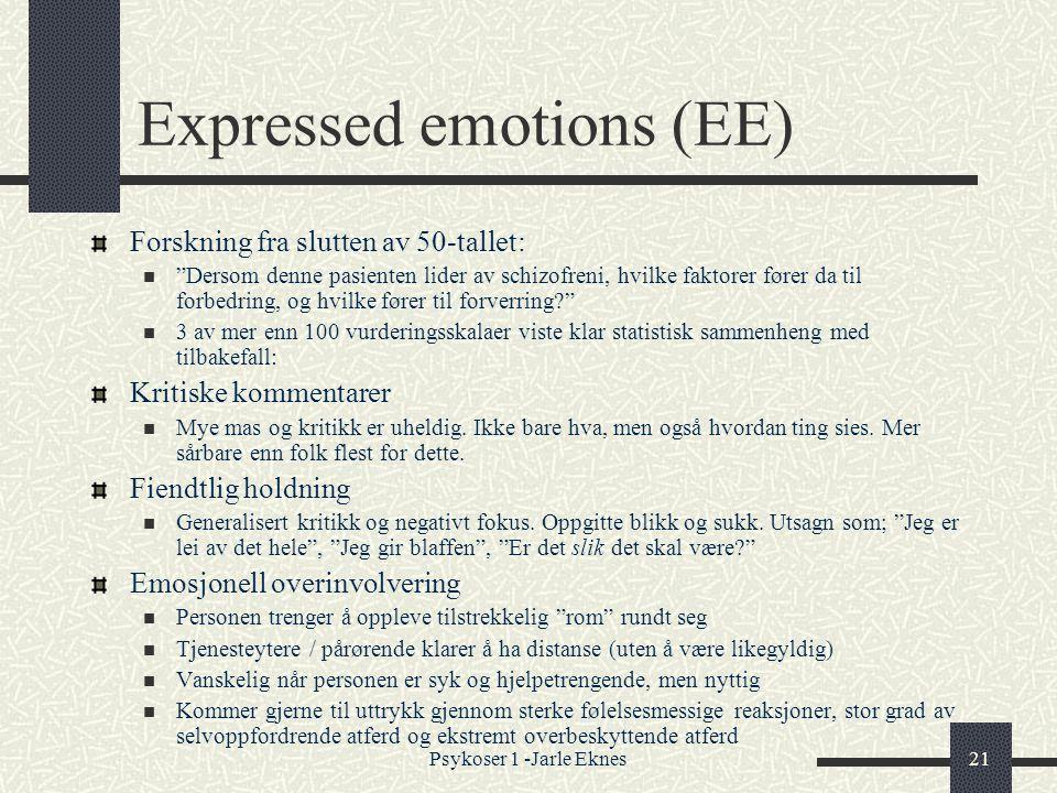 Expressed emotions (EE)