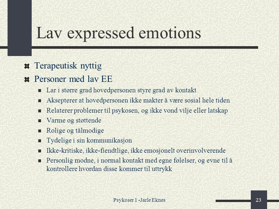 Lav expressed emotions