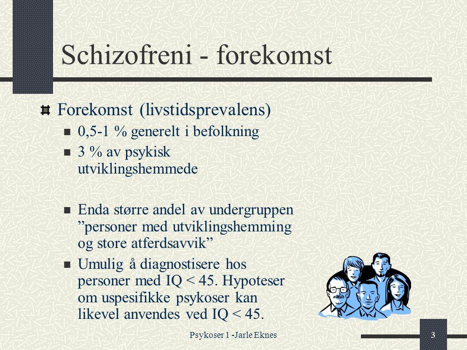 Schizofreni - forekomst