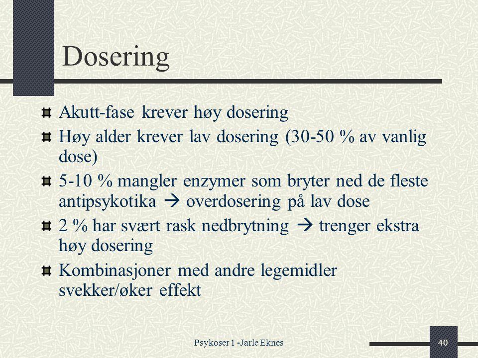 Dosering Akutt-fase krever høy dosering