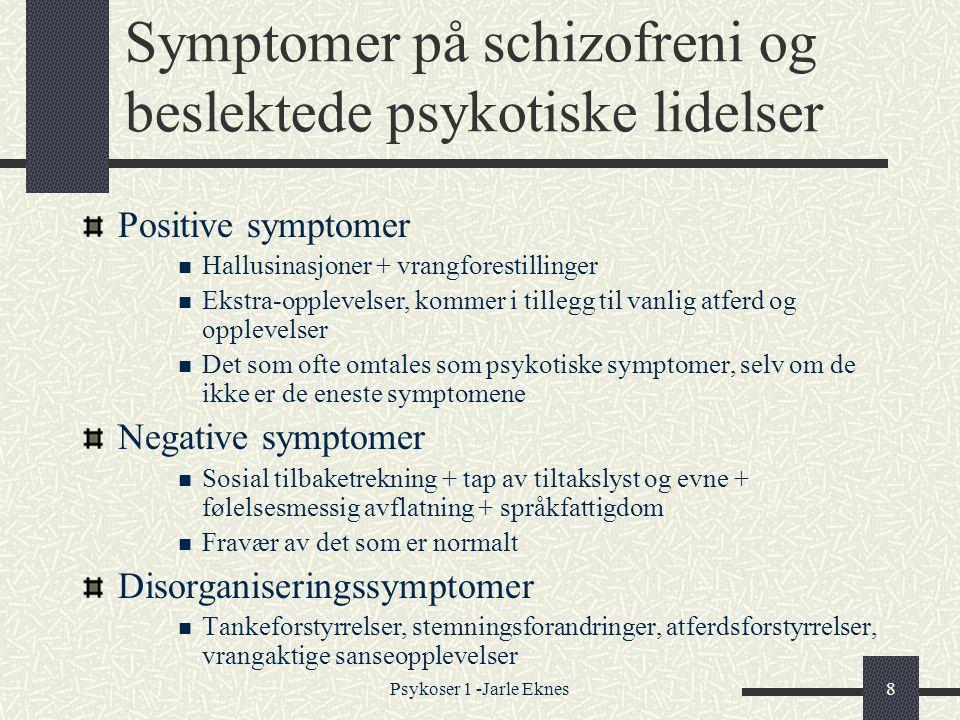 Symptomer på schizofreni og beslektede psykotiske lidelser