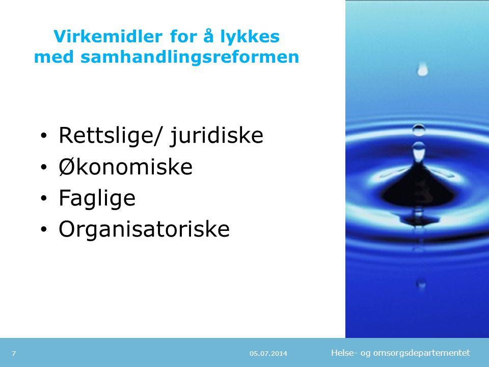 Virkemidler for å lykkes med samhandlingsreformen
