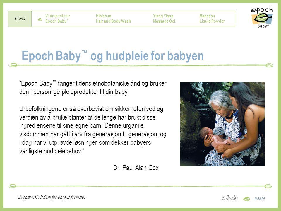 Epoch Baby™ og hudpleie for babyen