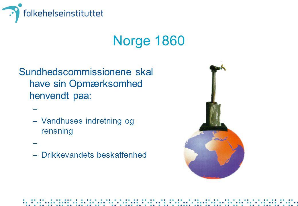 Norge 1860 Sundhedscommissionene skal have sin Opmærksomhed henvendt paa: Vandhuses indretning og rensning.