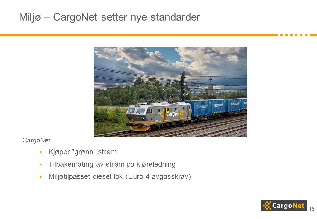 Miljø – CargoNet setter nye standarder
