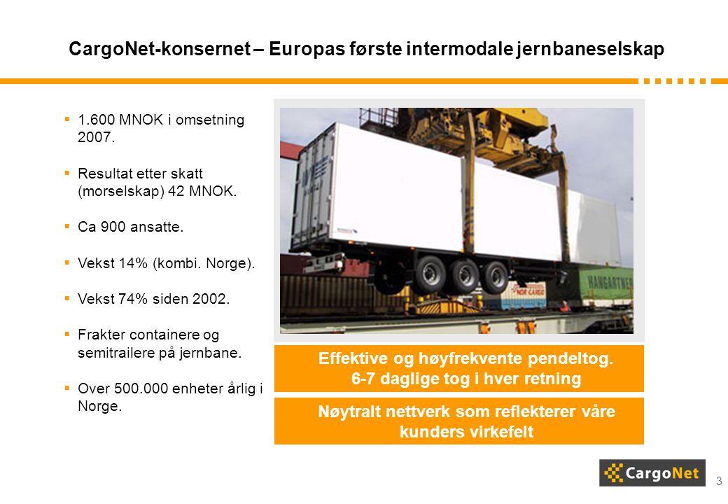 CargoNet-konsernet – Europas første intermodale jernbaneselskap