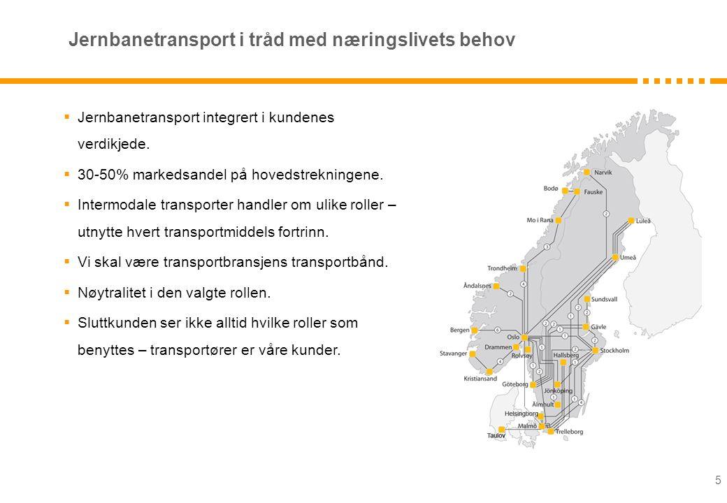 Jernbanetransport i tråd med næringslivets behov