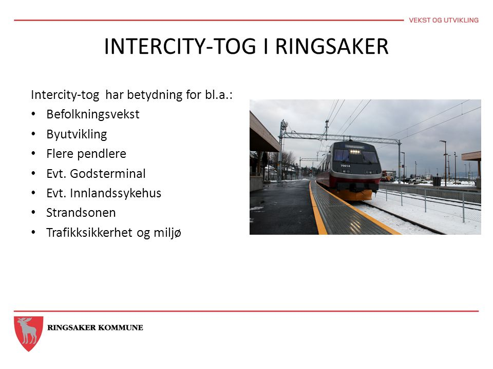 INTERCITY-TOG I RINGSAKER