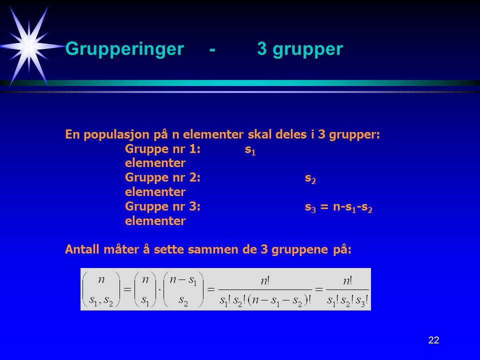 Grupperinger - 3 grupper
