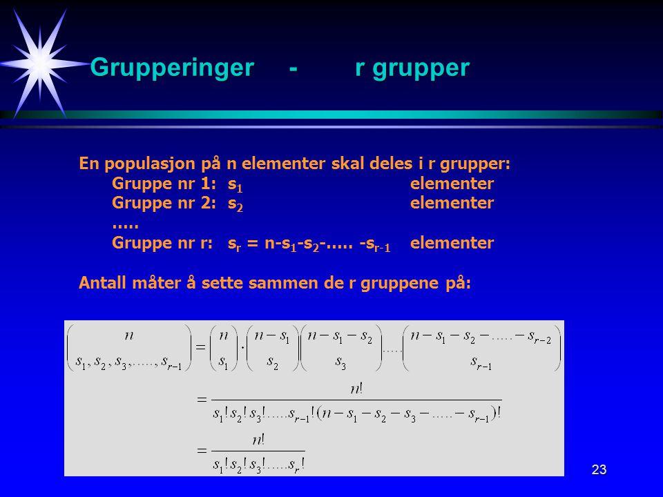 Grupperinger - r grupper