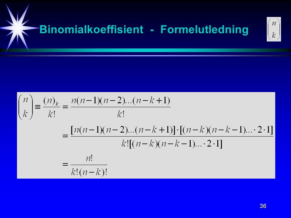 Binomialkoeffisient - Formelutledning