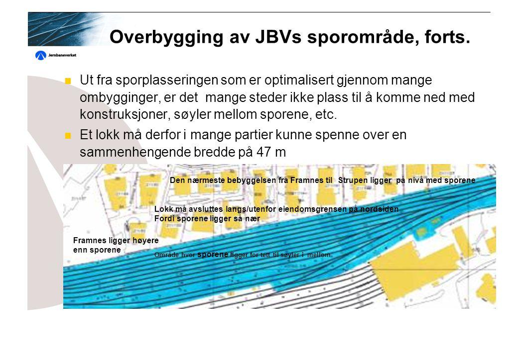 Overbygging av JBVs sporområde, forts.
