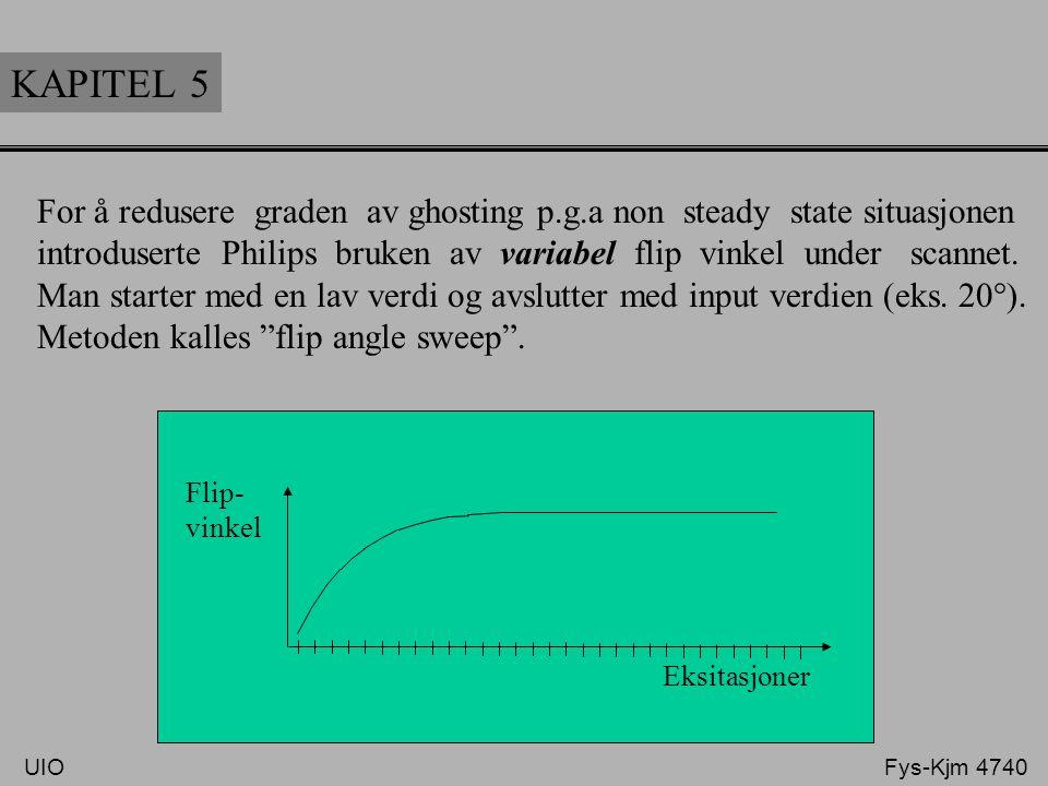 KAPITEL 5 For å redusere graden av ghosting p.g.a non steady state situasjonen.