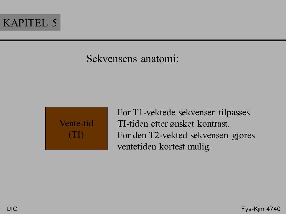 KAPITEL 5 Sekvensens anatomi: For T1-vektede sekvenser tilpasses