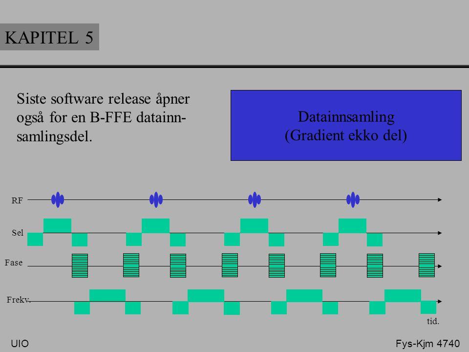KAPITEL 5 Siste software release åpner også for en B-FFE datainn-