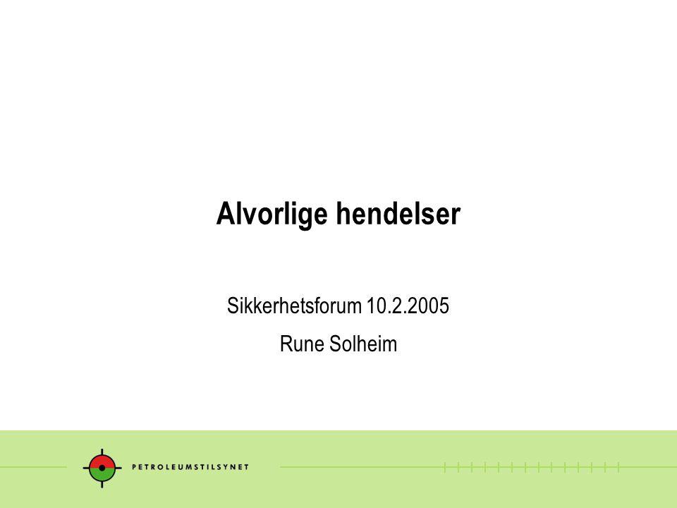 Sikkerhetsforum 10.2.2005 Rune Solheim