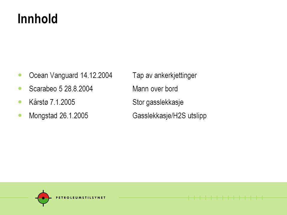Innhold Ocean Vanguard 14.12.2004 Tap av ankerkjettinger