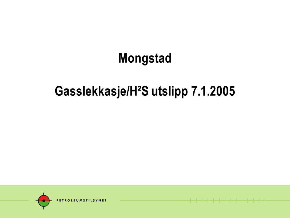 Mongstad Gasslekkasje/H²S utslipp 7.1.2005