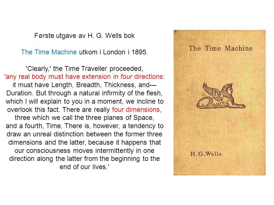 Første utgave av H. G. Wells bok