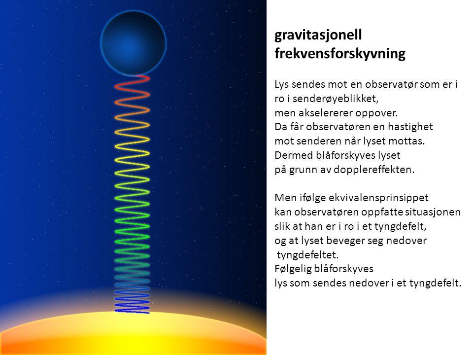 gravitasjonell frekvensforskyvning