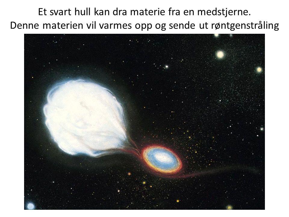 Et svart hull kan dra materie fra en medstjerne