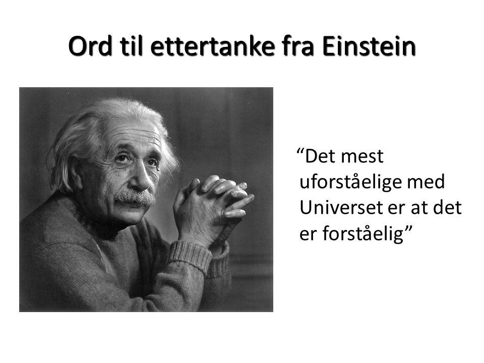 Ord til ettertanke fra Einstein