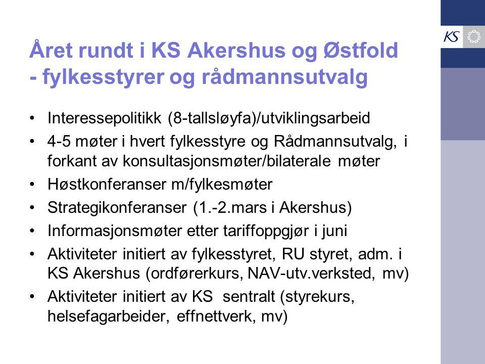 Året rundt i KS Akershus og Østfold - fylkesstyrer og rådmannsutvalg