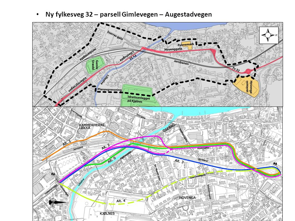 Ny fylkesveg 32 – parsell Gimlevegen – Augestadvegen