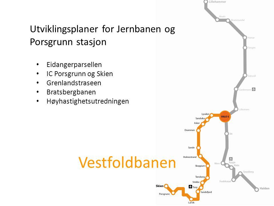 Vestfoldbanen Utviklingsplaner for Jernbanen og Porsgrunn stasjon