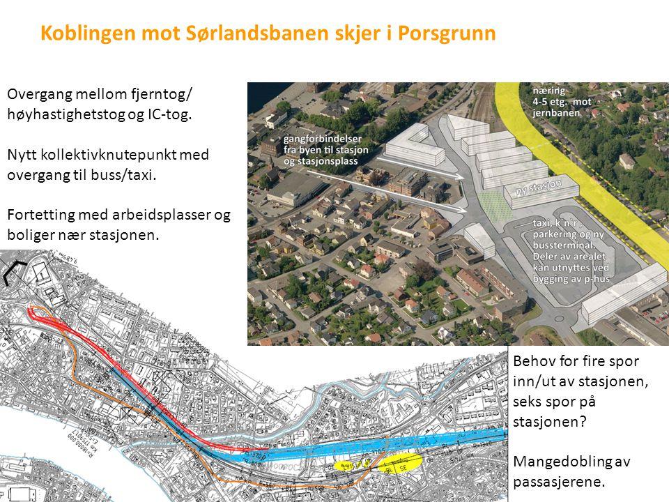 Koblingen mot Sørlandsbanen skjer i Porsgrunn