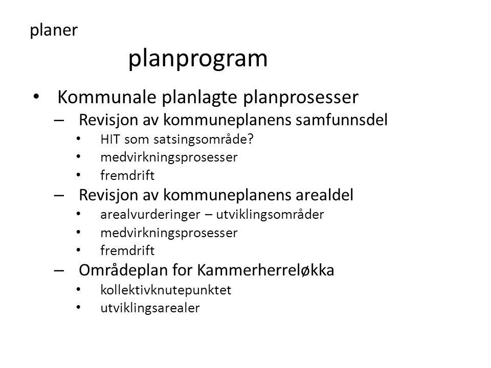 Kommunale planlagte planprosesser