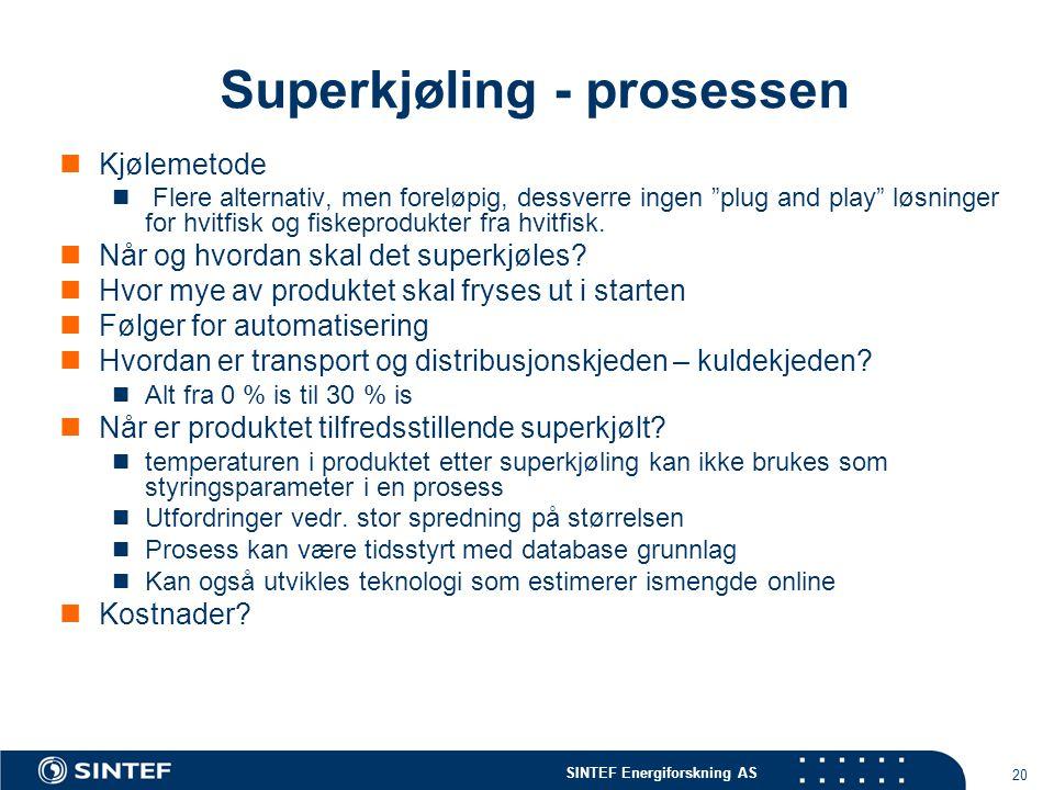 Superkjøling - prosessen