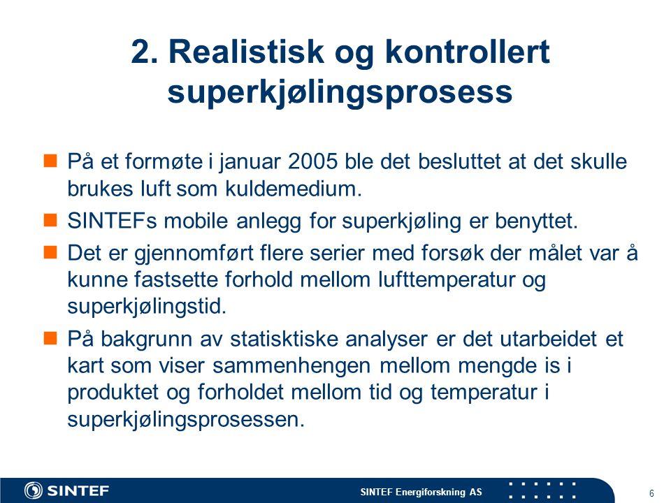 2. Realistisk og kontrollert superkjølingsprosess