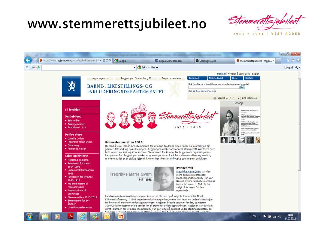 www.stemmerettsjubileet.no