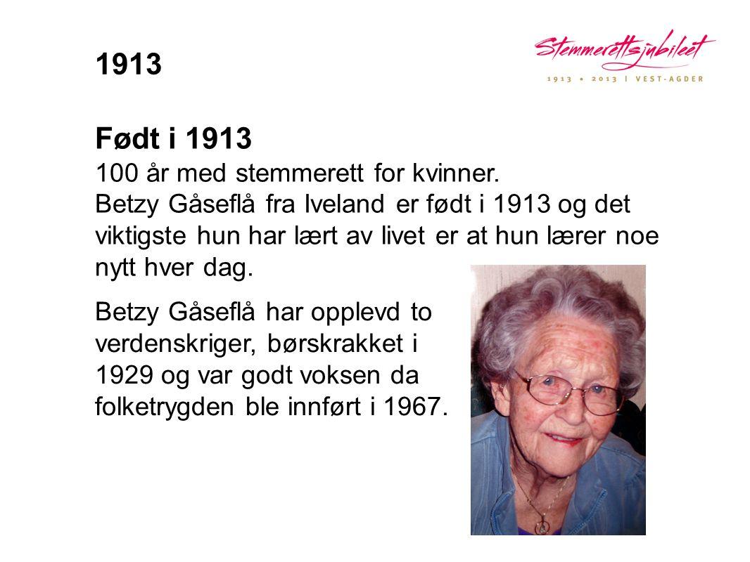 1913 Født i 1913.