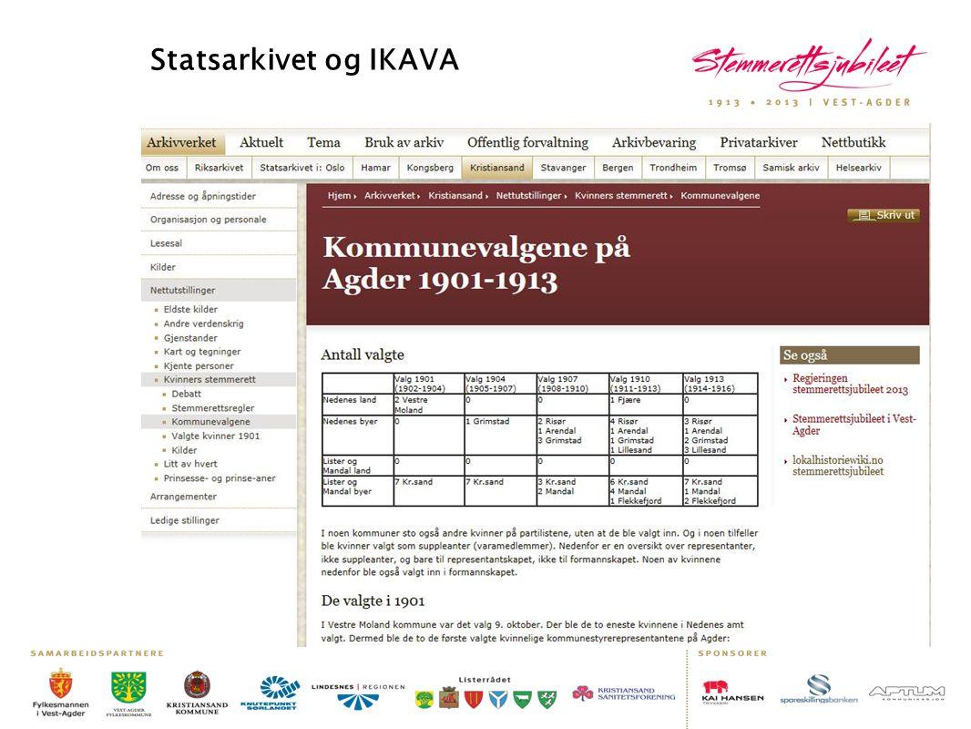 Statsarkivet og IKAVA