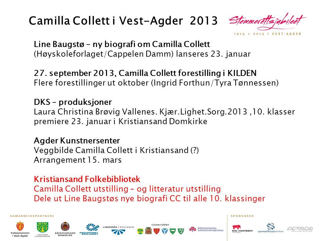Camilla Collett i Vest-Agder 2013