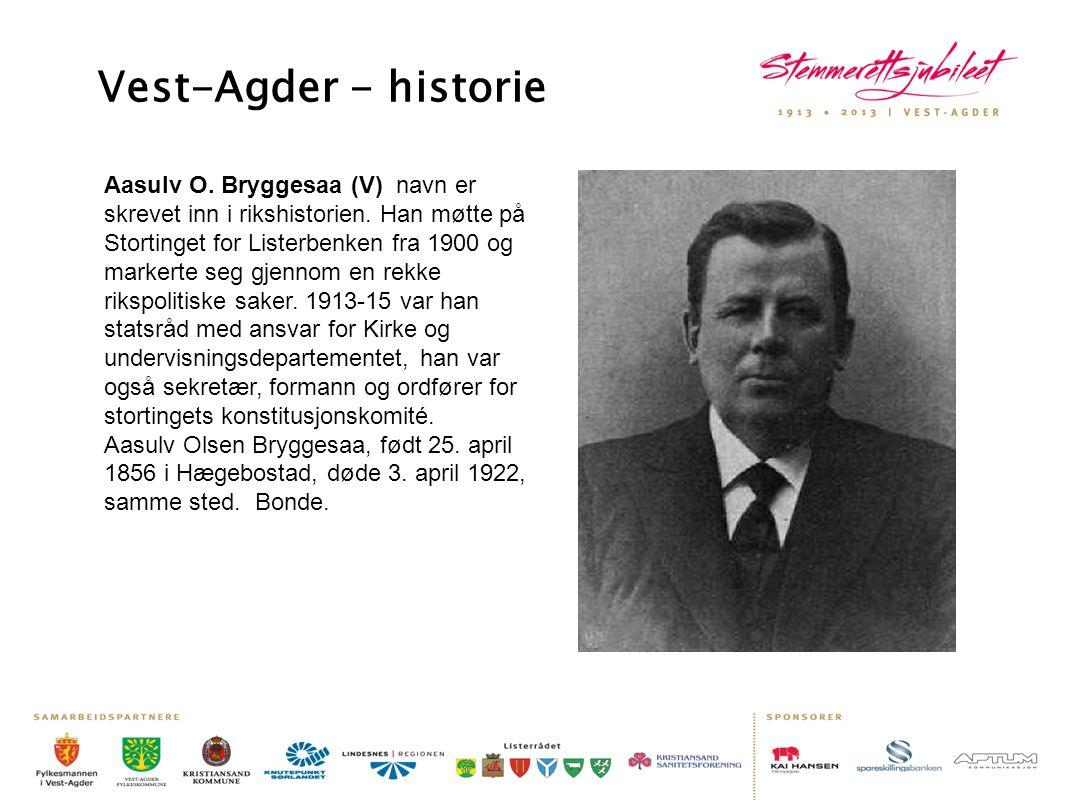 Vest-Agder - historie