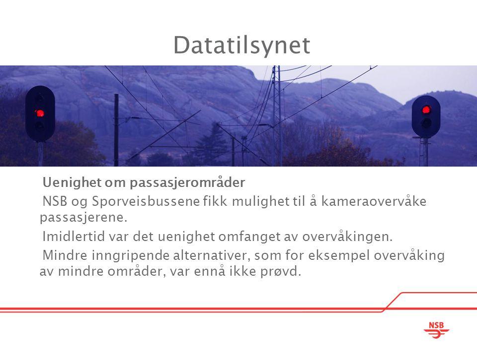 Datatilsynet Uenighet om passasjerområder
