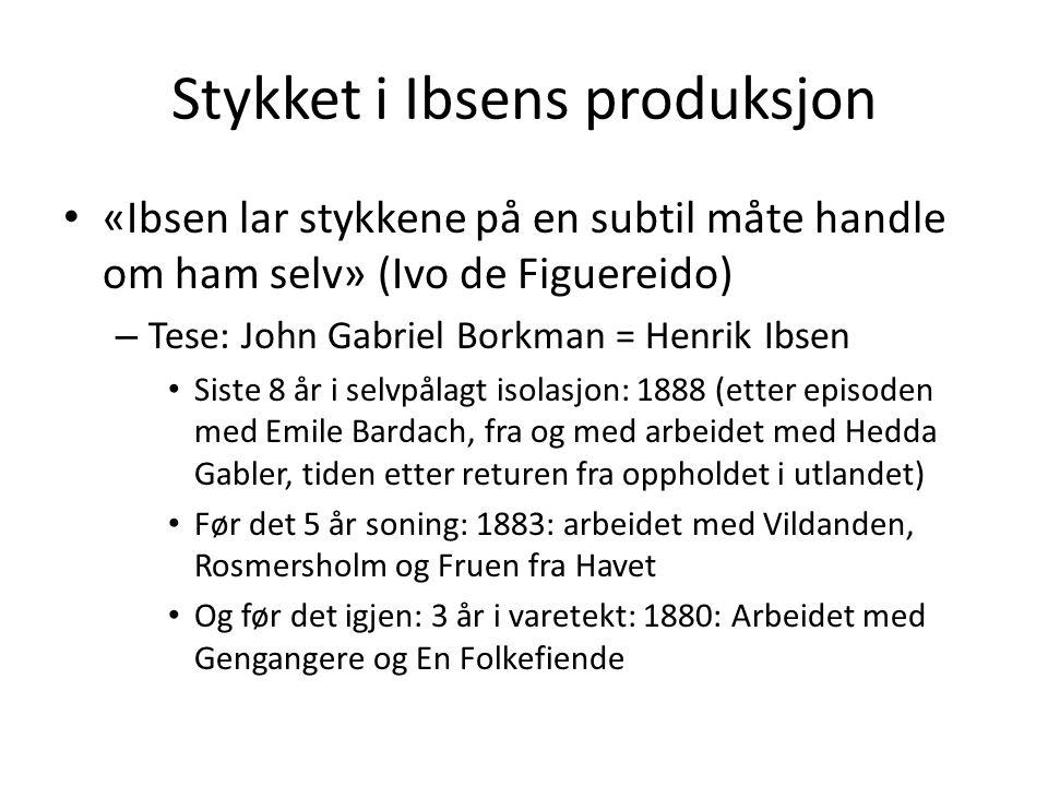 Stykket i Ibsens produksjon