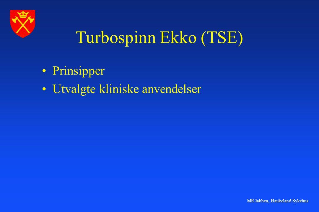 Turbospinn Ekko (TSE) Prinsipper Utvalgte kliniske anvendelser