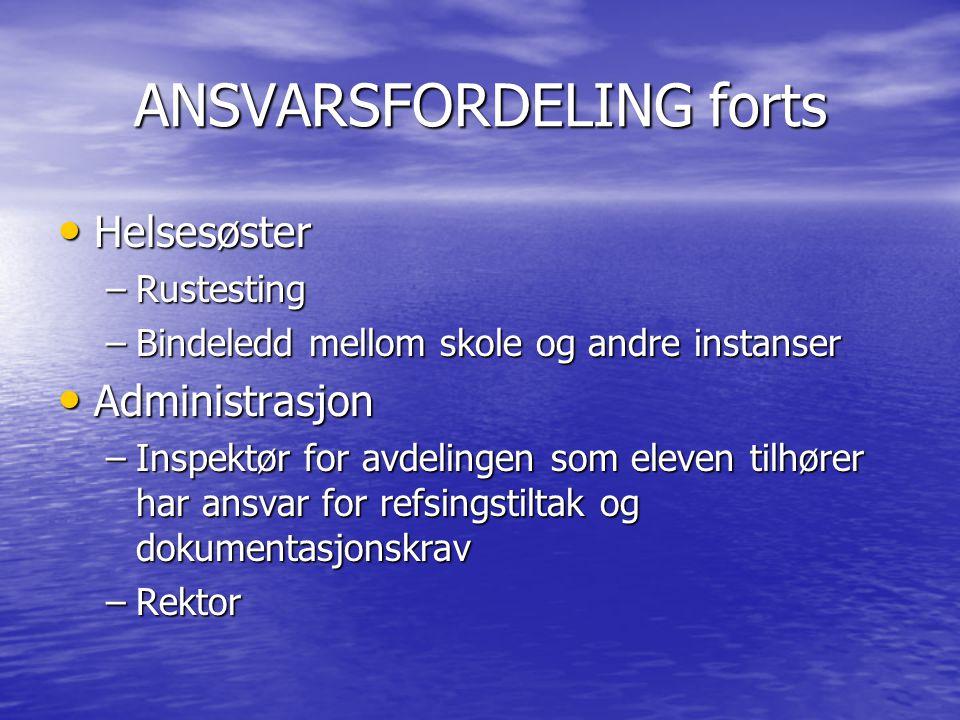 ANSVARSFORDELING forts