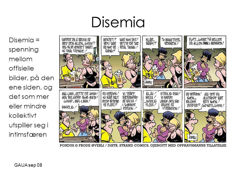 Disemia Disemia = spenning mellom offisielle bilder, på den