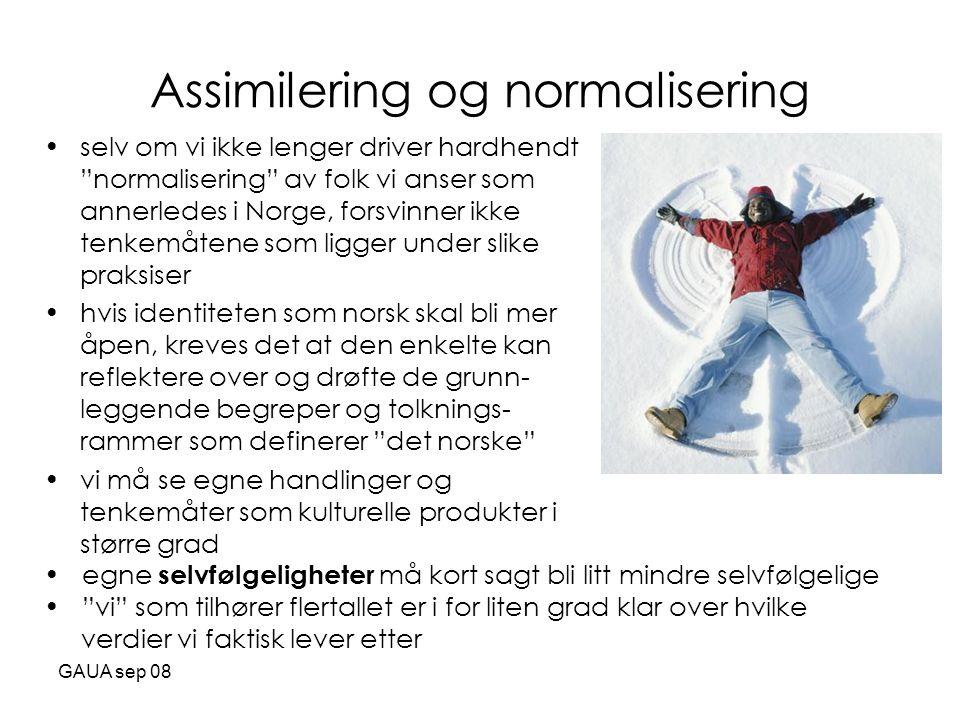 Assimilering og normalisering