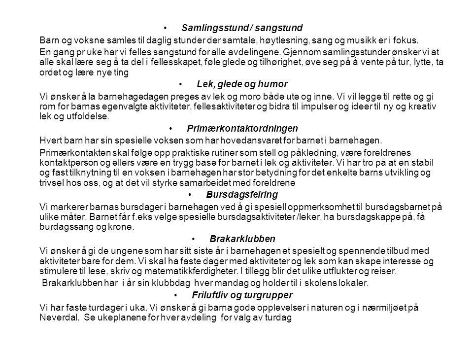 Samlingsstund / sangstund