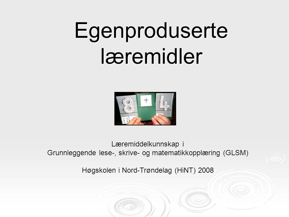Egenproduserte læremidler