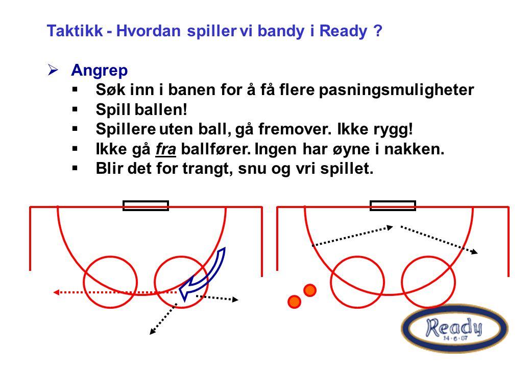 Taktikk - Hvordan spiller vi bandy i Ready