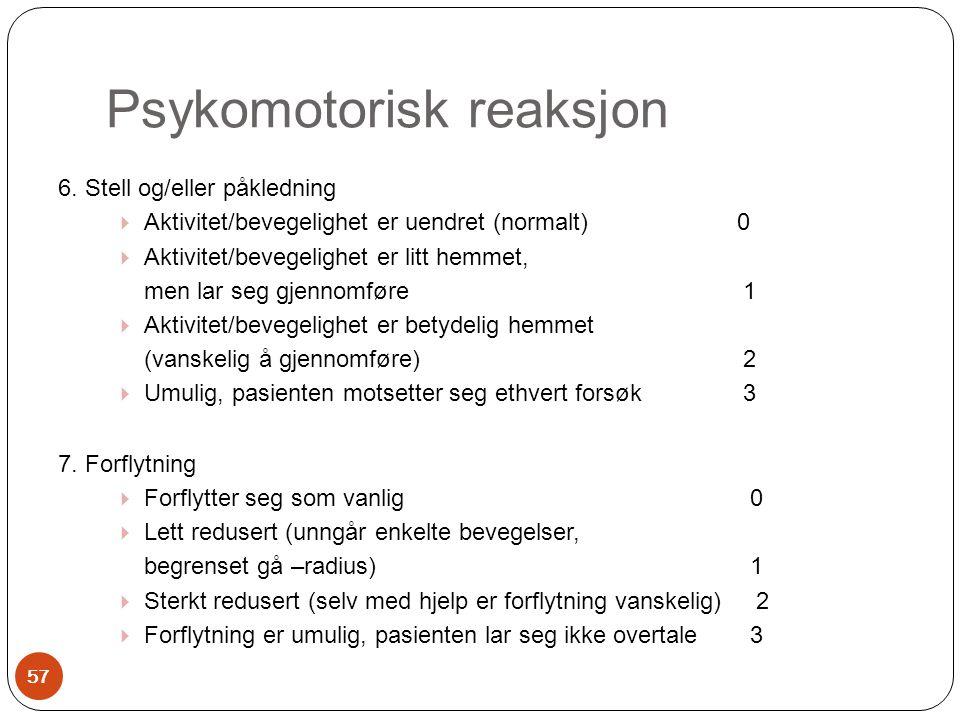 Psykomotorisk reaksjon